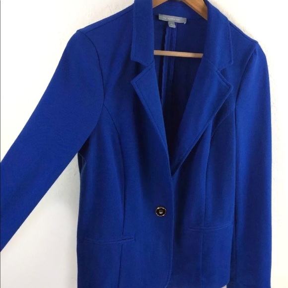 NY Collection Jackets & Blazers - NY Collection Blue 1 Button Blazer Jacket